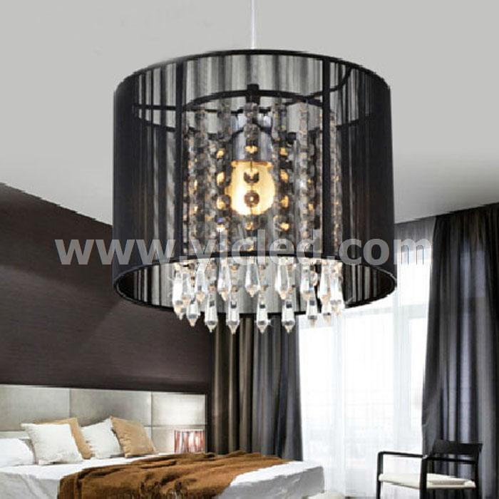 Black Crystal Chandelier With 1 Led Bulb Flush Mount Mini Style Pendant Light Fixture For Kitchen Dining Room In Chandeliers From Lights