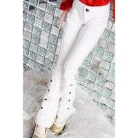 [Wamami] Ücretsiz Kargo Yeni Toptan/Perakende Beyaz Deri Pantolon Pantolon 1/4 BJD Doll Dollfie Için