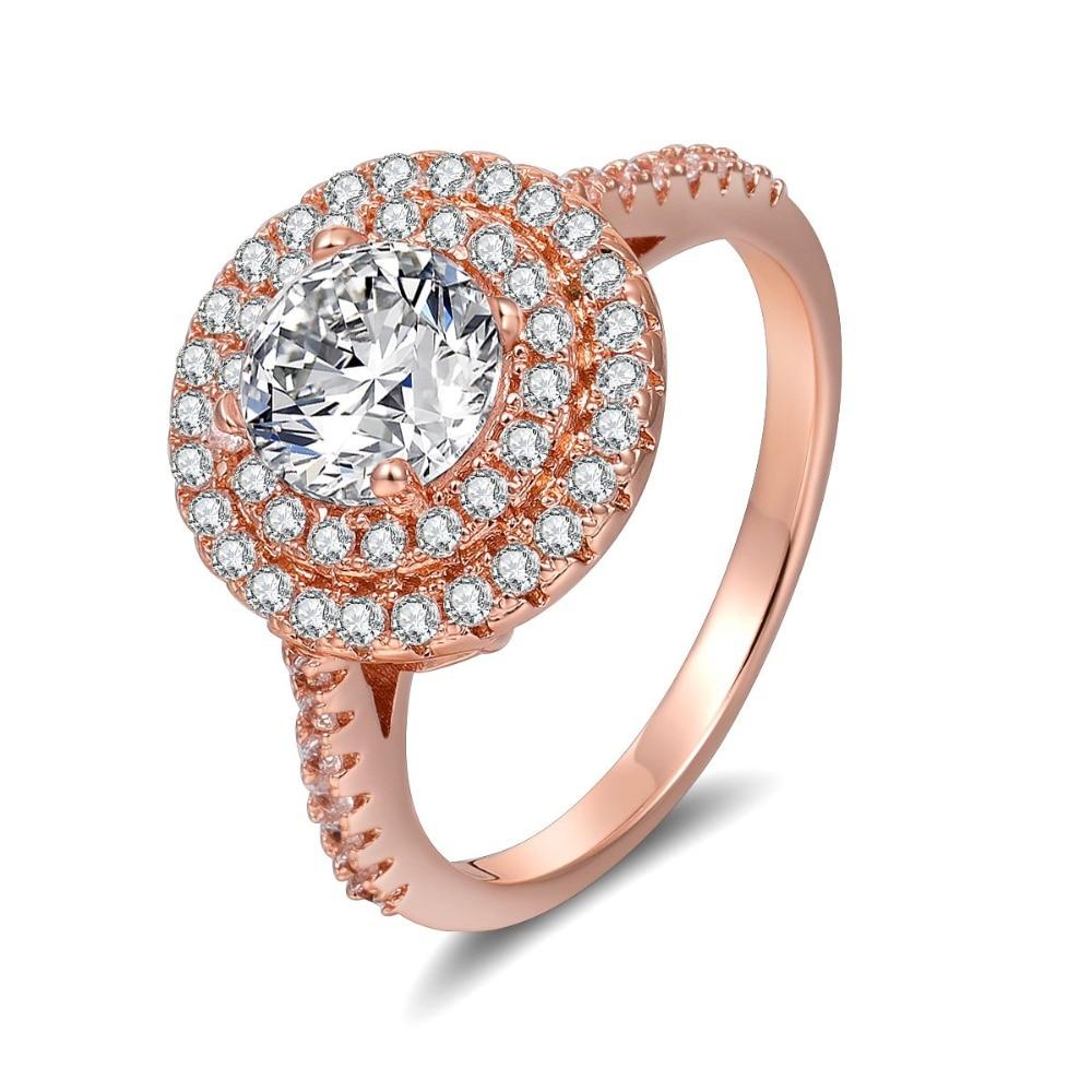 Angel Girls Hot Sales Stuffed White Zircon Ring