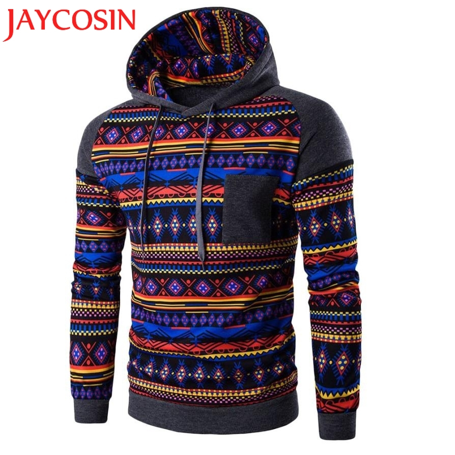 SIF Mens Hoodies New Winter Pullovers Leisure Patchwork Colors Fashion Sweatshirts Hooded Coats Hoddies Sweat Homme Hot 2017