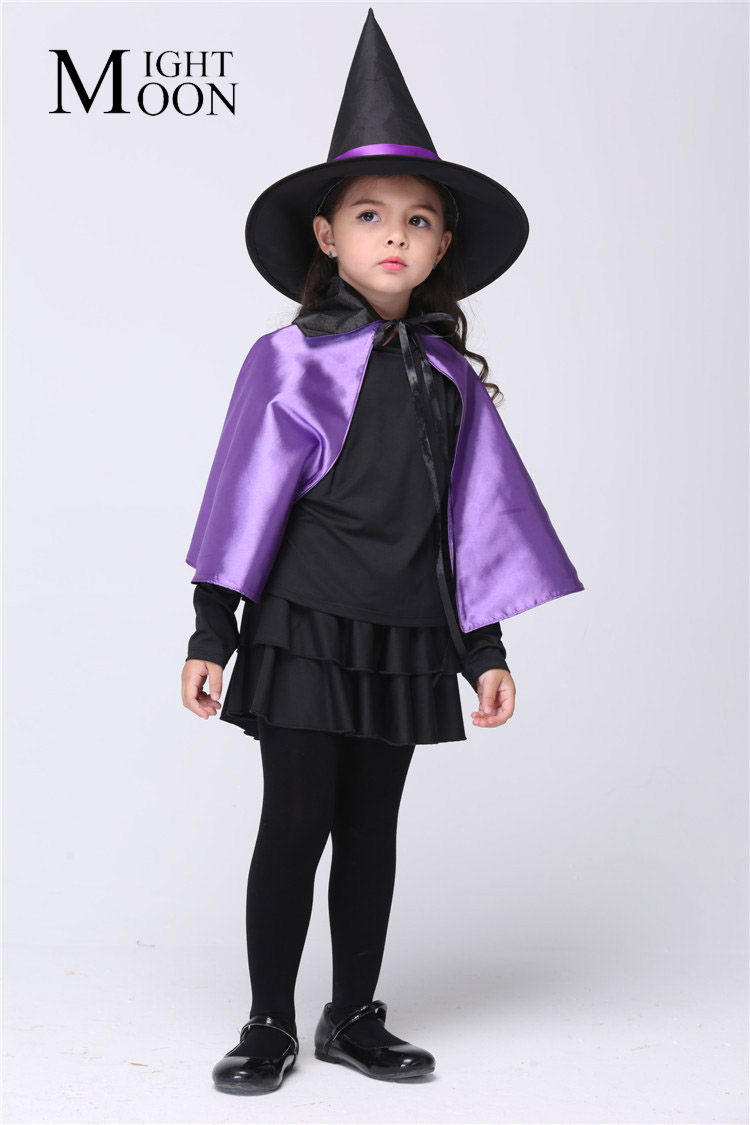 MOONIGHT Halloween Witch Suits Girl's Halloween Witch Costume for Girls Witch Cosplay Clothes