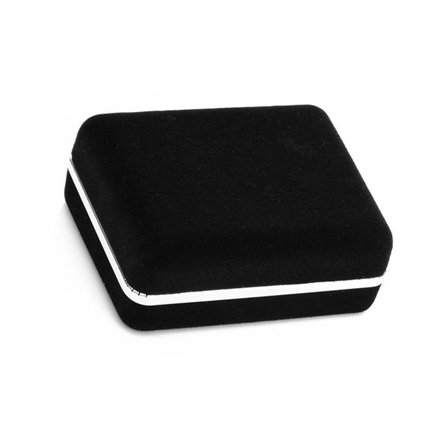 Black Flocking cufflink Box Velvet Show Cases Jewelry Show Box For Gift Jewelry