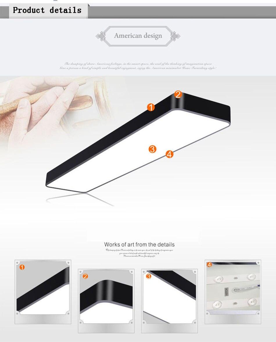 HTB1fOrCB1uSBuNjSsziq6zq8pXaF LED Modern Ceiling Light Lamp dimmable Surface Mount Panel Rectangle Lighting Fixture Bedroom Living Room office light 110V 220V