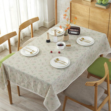 Fashion Table Cloth Country Style Flower Print Linen Rectangle Table Cover Pastoral Dustproof Tablecloth With Lace Home Decor simanfei linen table cloth country style plaid print stylish rectangle table cover tablecloth home kitchen decoration