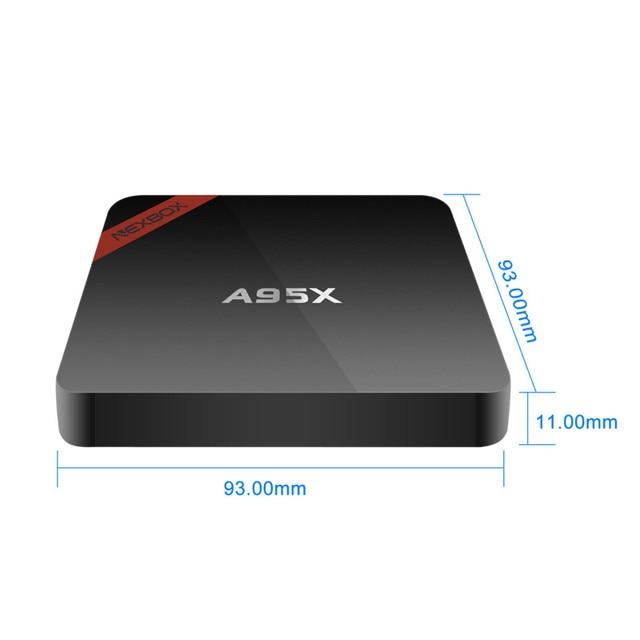 1GB/8GB Mini A95X Nexbox Set-top Box New Android 6.0 Amlogic S905X Smart TV Box Quad-core 64bit KODI 16.1 4K Smart IPTV