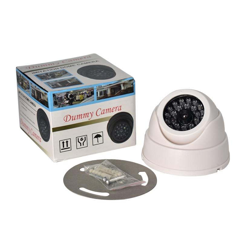 Hot Outdoor CCTV Fake IP Camera Family Surveillance Security Dome Mini Camera Black 26 Flashing LED Light Fake Dummy Camera