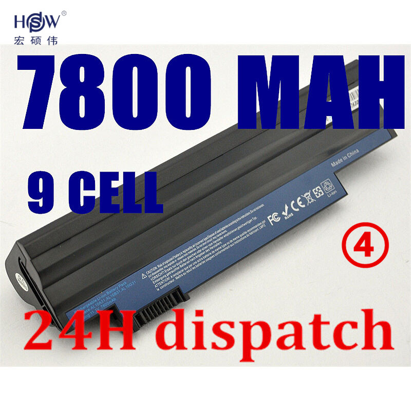 HSW 7800mah 9cells laptop battery For Acer Aspire One 522 D255 722 AOD255 AOD260 D255E D257 D260 D270 AL10A31 AL10B31 AL10G31 стоимость