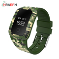 Hraefn A28 Smart Band Blood Pressure Oxygen Sport Fitness Tracker watch IP67 Waterproof Military style wristband for ios android