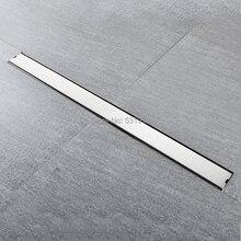 High Quality 80CM SUS304 Stainless Steel Floor Drain Tile Insert Rectangular Anti-Odor Shower Floor Drain Gate Drain
