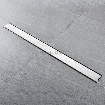 Wysokiej jakości 80CM SUS304 odpływ podłogowy ze stali nierdzewnej płytka wkładka prostokątny antyzapachowy odpływ podłogowy odpływ bramy tanie i dobre opinie Kanalizacji Typ dezodoryzacji STAINLESS STEEL Piętro Wspólna wpustu Innych Plac FL4471-80 Szczotkowane Robern Household Cleaning