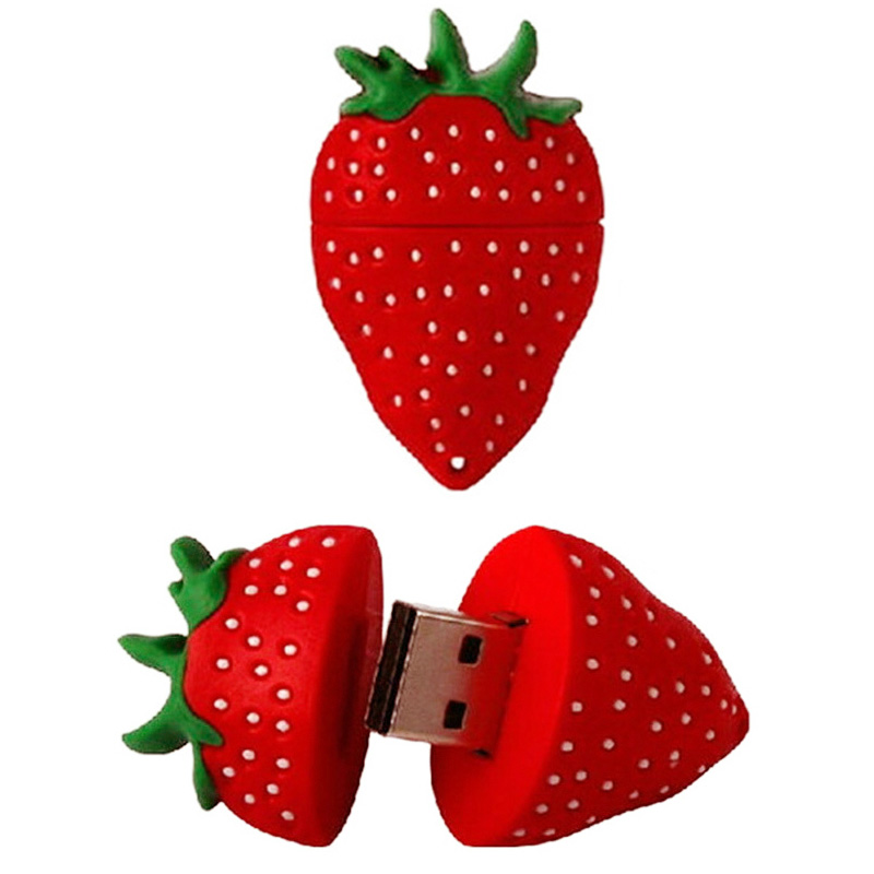 Food Fruit Strawberry Pen Drive USB Flash Drive 4GB 8GB 16GB 32GB 64GB Cute Pendrive Flash U Stick USB 2.0 Memory Stick New