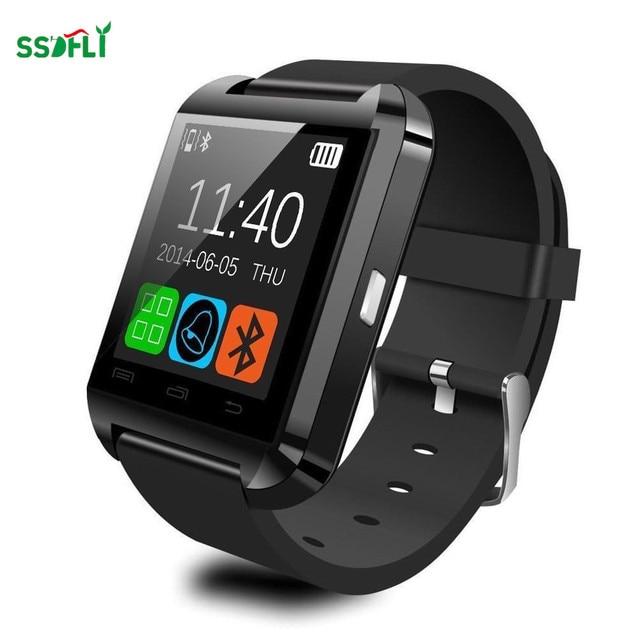 Ssdfly caliente inteligente reloj Bluetooth U8 reloj de pulsera para teléfono 4/4S/5/5S/6 y Sam Sung S4/Note/s6 HTC teléfono Android reloj inteligente