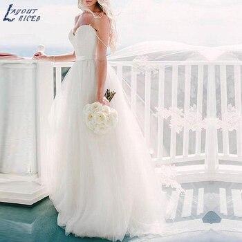 ZL1029 New Charming Spaghetti Straps Lace Tulle Ball Gown Wedding Dresses Bridal Gowns Celebrity vestido De Noiva robe de mariee