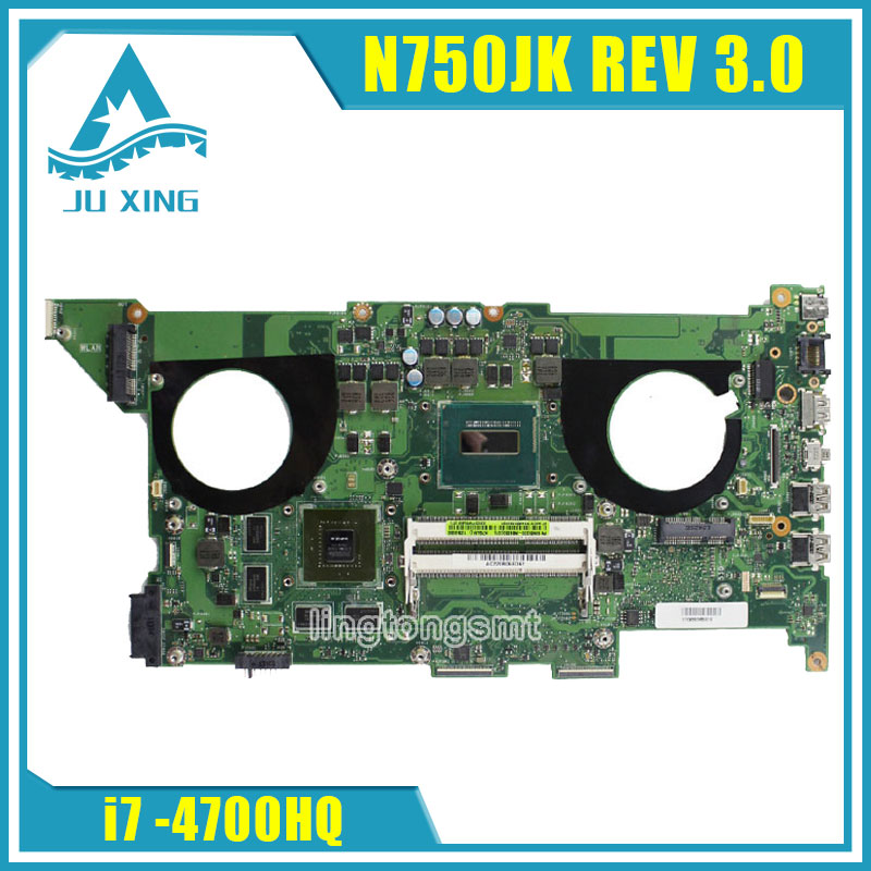 for ASUS N750JK laptop motherboard N750JV N750JK Rev 3 0 2GB 8 video cards mainboard with