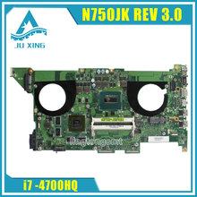 Für ASUS N750JK laptop motherboard N750JV N750JK Rev 3,0 2 GB 8 video karten mainboard mit I7 4700HQ CPU 100% test