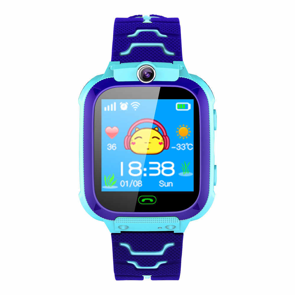 Fashion New Bluetooth 4.0 Kids Smart Watch Wrist   GPS Tracker for Boys Girls with Camera Support Russian#T3