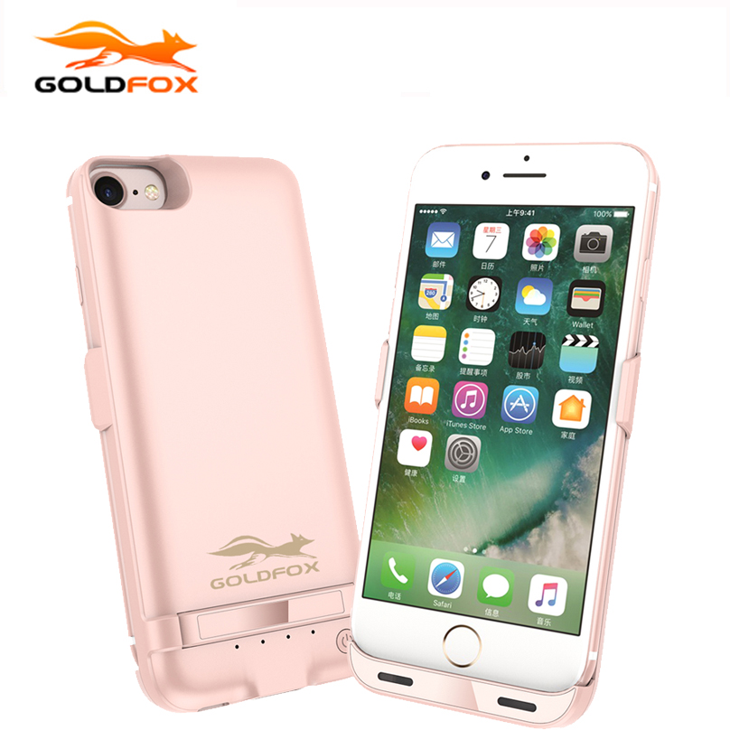 GOLDFOX Portable Battery Charger Case For iphone 6 6S Plus 5800/8200mAh Backup Battery Charge Powerbank Case for iphone 7 7 plus