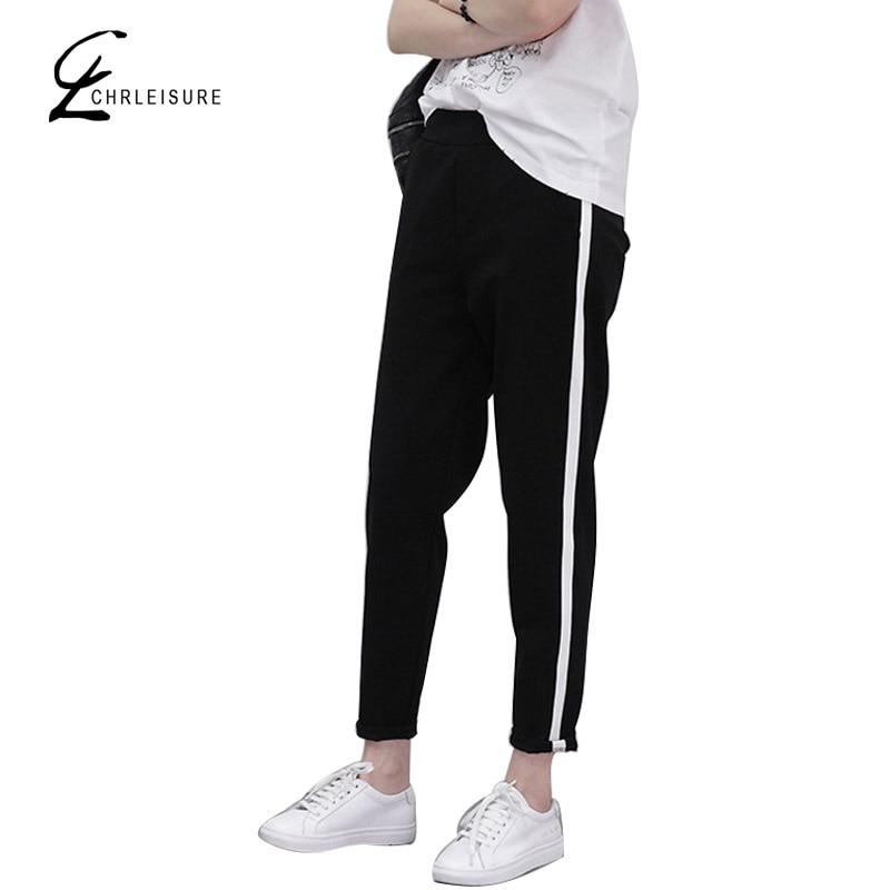 CHRLEISURE S-XXL Pantalones de harén de las mujeres de moda floja - Ropa de mujer