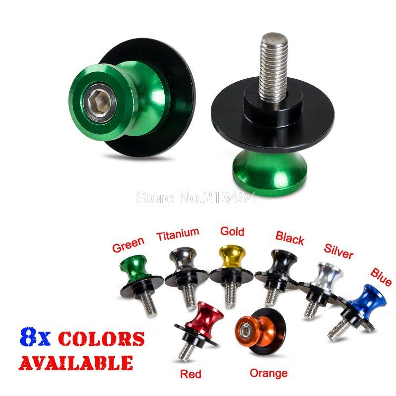 6mm Swing Arm Spools Sliders For Yamaha R7 YZF-R1 R6 R6S FZ1 FZ6 FZ6R, 8 Colors 6mm swing arm spools sliders for yamaha r7 yzf r1 r6 r6s fz1 fz6 fz6r 8 colors