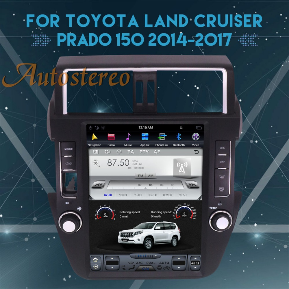 все цены на Android 7.1 Tesla style Big Screen Car GPS Navigation For TOYOTA Land Cruiser Prado 150 2014+ headunit multimedia No DVD Player онлайн