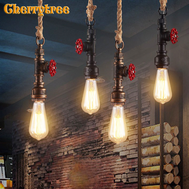 Pendant Lights Vintage Industrial Pendant Lamp Hanging Loft Design Retro Dining Room Restaurant Cafe Light Fixture Home Deco E27