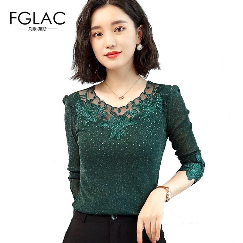 women   blouse     shirt   Fashion long sleeve Autumn   shirt   women New 2018 Sexy hollow out women tops plus size female bluses