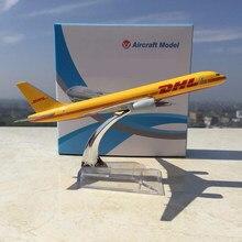 1:400 kinder spielzeug Boeing 757-200 B757 DHL Express Lieferung Flugzeug 1/400 Gelb Aircraft Diecast Flugzeug Spielzeug für Kinder geschenk