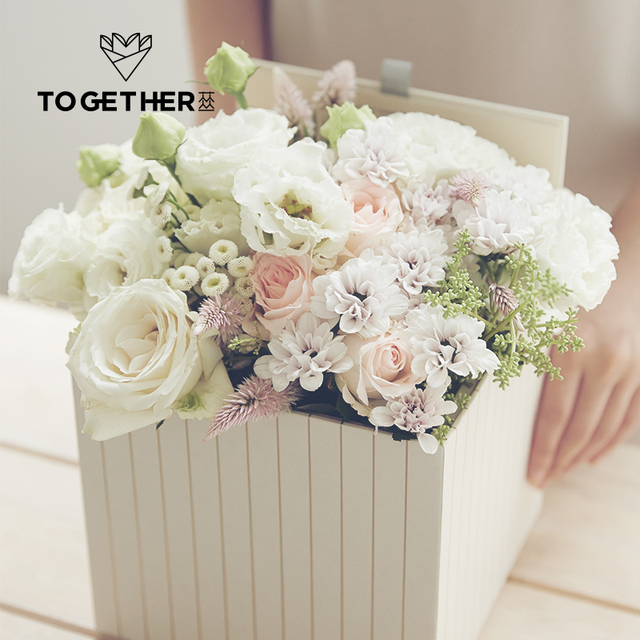 Together flower box seriesfoldparty packing waterproof flower together flower box seriesfoldparty packing waterproof flower wrapping box floral package stamping mightylinksfo