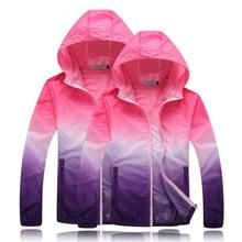 2016 Color de la chaqueta de Abrigo Cazadora Ultraligero UVproof Ropa Femenina protector solar Masculina de Gran Tamaño Protector Solar chaqueta Rompevientos