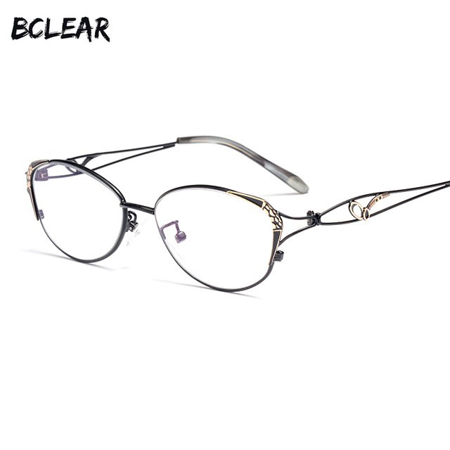 BCLEAR New Cat Eye Reading Glasses Women Fashion Presbyopic Reading Eyelasses Clear Anti-Blue Ray Computer Lenses +0.25 ~ +4.00