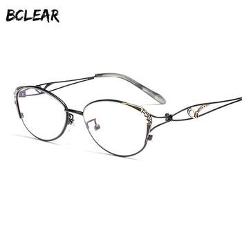 01876118af BCLEAR nuevo ojo de gato gafas de lectura de la moda de las mujeres de presbicia  lectura | tela claro Anti-azul Ray computadora lentes + 0,25 ~ + 4,00