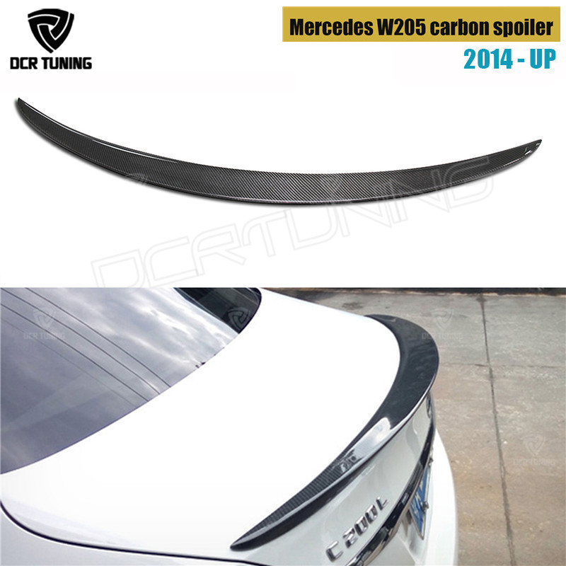 Mercedes W205 Spoiler Carbon Fiber Rear Trunk Spoiler wing 2014 2015 2016 - UP C Class W205 C250 C200 C180 C260 4-Door Sedan carbon fiber zmr250 c250 quadcopter