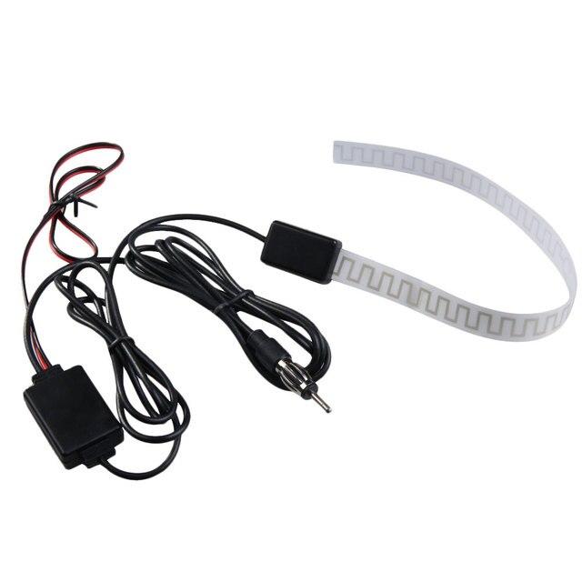 US $3 99 19% OFF|Universal 12V Car Antenna Booster Car TV Digital DVB T FM  AM Radio Windshield Mount Antenna Aerial Amp Amplifier Booster New-in