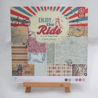 12inch 24sheets/set Vintage enjoy the ride theme Gift Wrapping Book kit Scrapbooking Paper DIY card making origami home deco