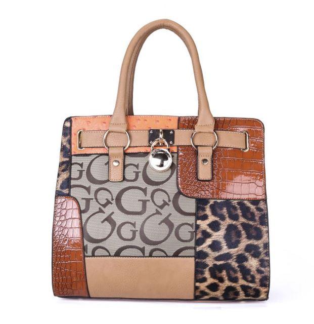 YESIKIMI Women Handbag Alligator Leopard Patchwork Letter G Purse Quality PU Leather Lock Bag Brand Design Saffiano Bag Gift