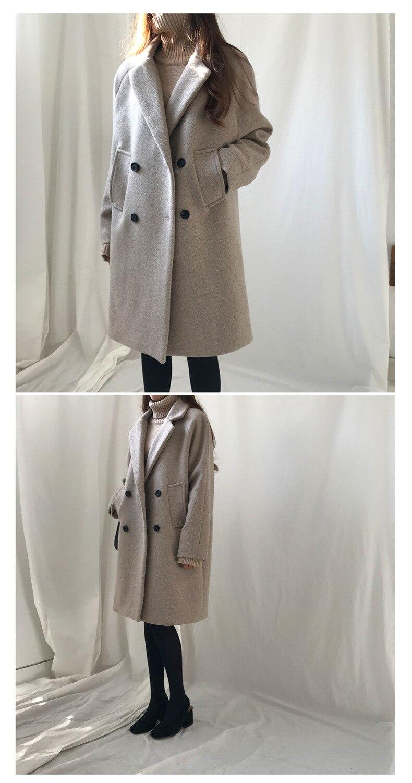 Hodisytian inverno moda feminina lã mistura solto