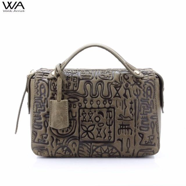 Ходить поступление Пояса из натуральной кожи Для женщин сумка маленькая сумочка специальные Дизайн тисненая кожа Сумка Мода трапеция кошелек