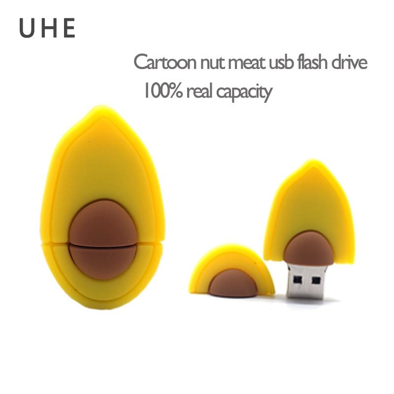 USB flash drive cartoon nut meat model pen drive 4GB 8GB 16GB 32GB 64G real capacity memory stick creative gift pendrive cle usb