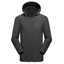 Men Autumn Hooded Casual Elastic WaterProof Jacket Coat Trench Men Brand Fashion Detachable Hat Jackets Men