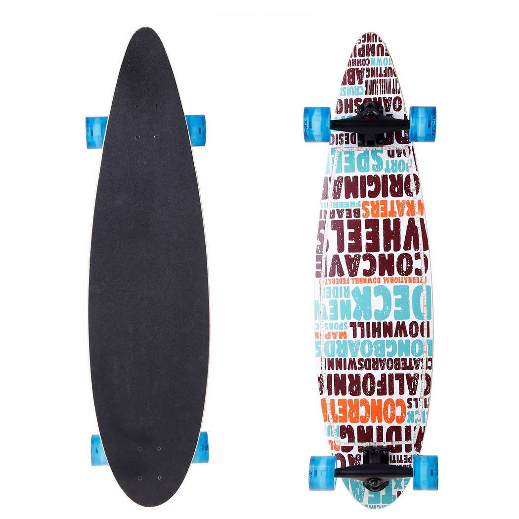 40 inch Skateboard Wheels Wood  Print Scooter LED Flashing Skate board Kids Adult Longboards wheels Matte board 2016 new peny board skateboard complete retro girl boy cruiser mini longboard skate fish long board skate wheel pnny board 22