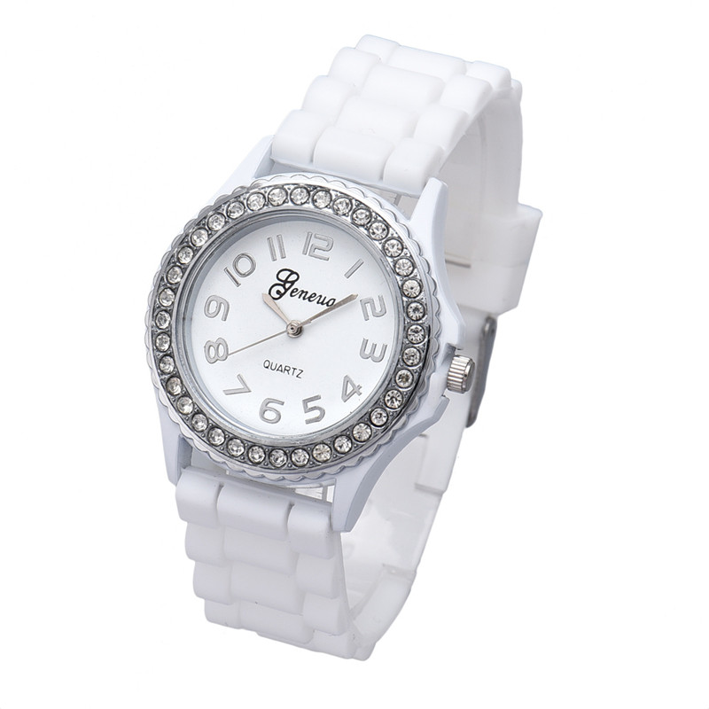 New Women Watches Fashion Silicone Gel Ceramic Style Band