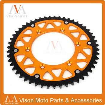 51T CNC Rear Chain Sprocket Steel and Aluminum RM125 RMZ250 RMZ450 RMX250 RMX450Z Motocross Supermoto Enduro Dirt Bike Racing