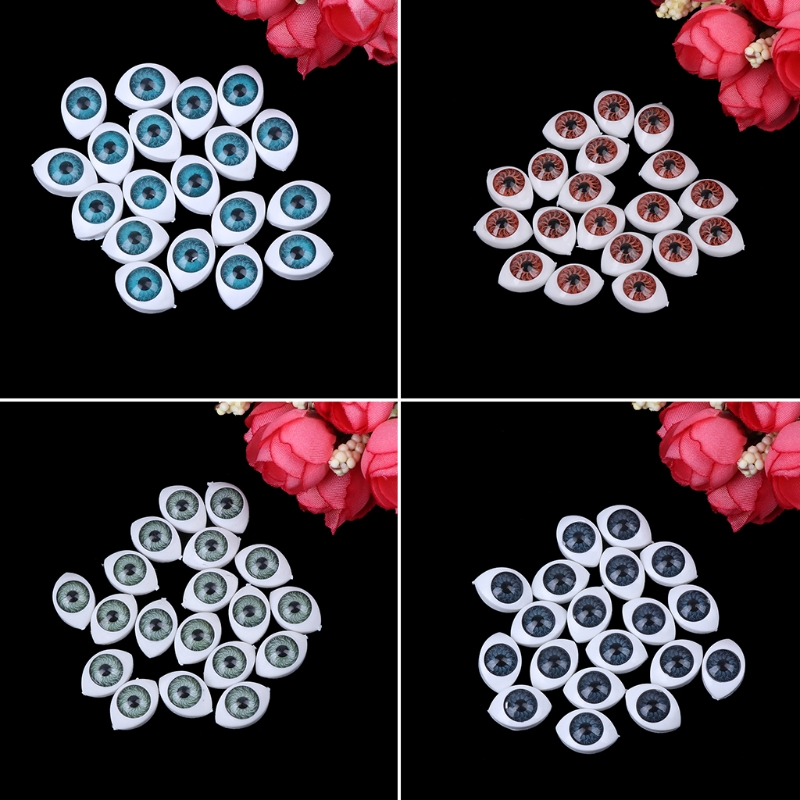 20 Pcs/lot Plastic Doll Safety Eyes For Animal Toy Puppet Making DIY Craft Accessories 10mm/12mm/14mm