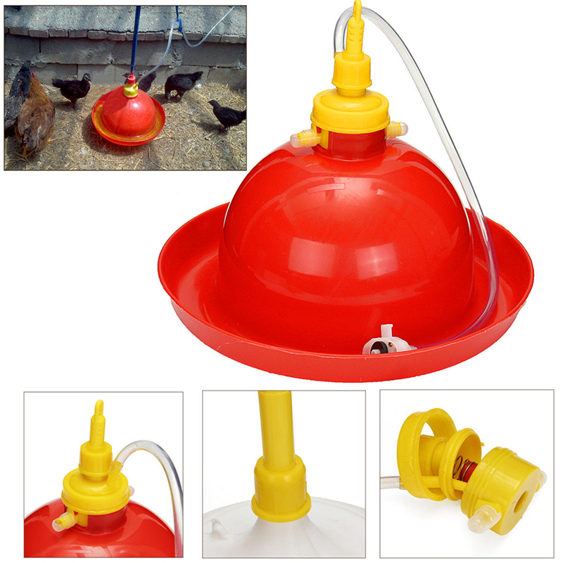1pc Pet Automatic Poultry Drinking Waterer Chicken Duck Goose Automatic Waterer Backyard Poultry Dispenser Equipment