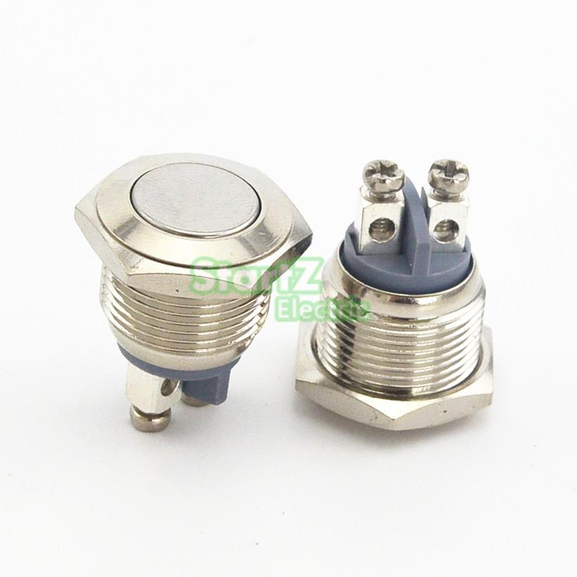 16mm Starter Switch Steel Metal Hight Shape Push Button Switches ^D