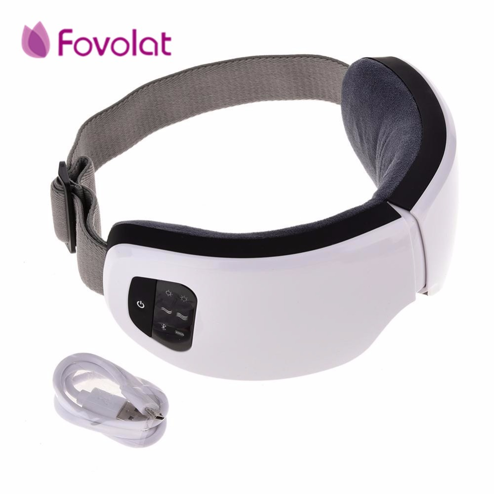 Portable Eye Massage 6S Wireless USB Rechargeable Bluetooth Foldable Eye Massager Adjustable Air Pressure Eye Protector eye massager eye mask electronic foldable rechargeable with pressure vbration heat music for dry eye relax