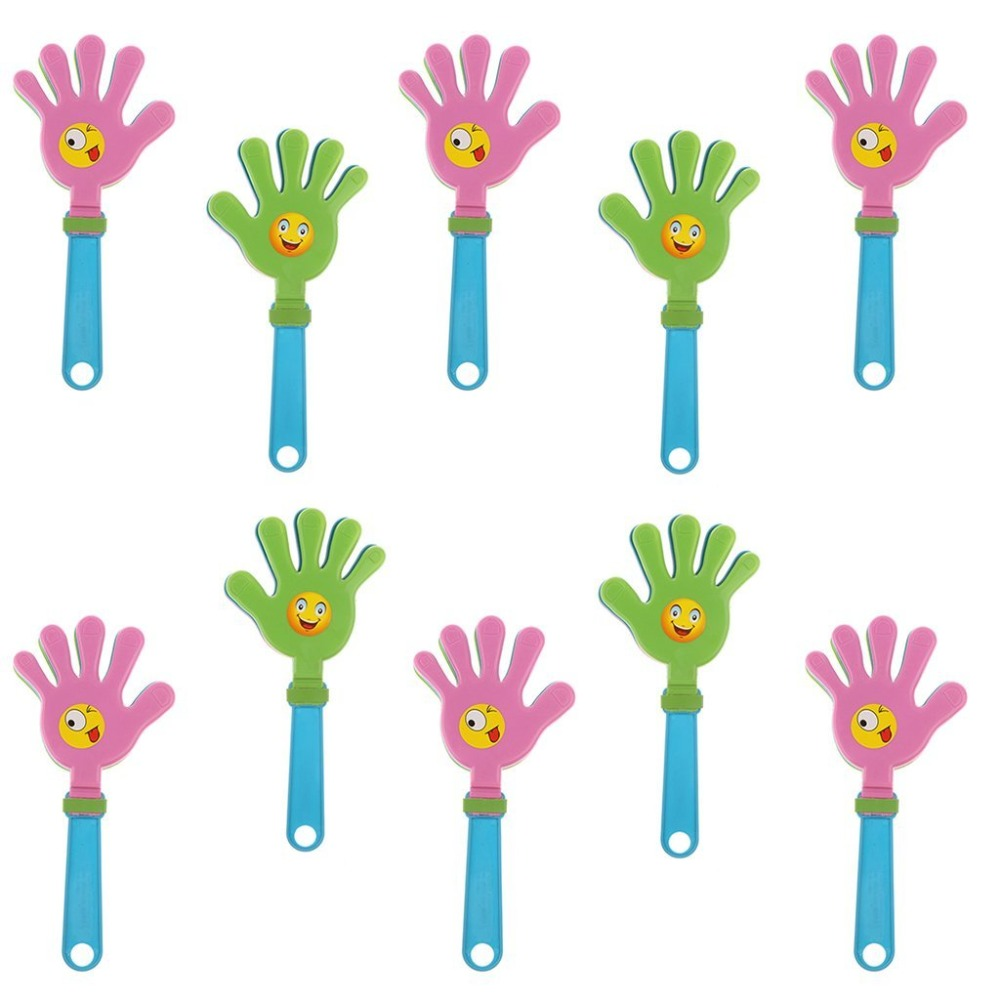 10PCS Fashion Colorful Hand Clapper Concert Party Cheering Props Children Clap Noise Makers Small Hands Clapping Toy