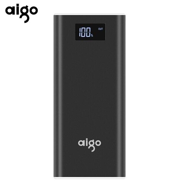 Aigo power Bank 20000 мАч для Xiaomi Mi 2 USB быстрая зарядка портативный повербанк для iPhone X 8 7 6 5 плюс 20000 мАч телефон power bank