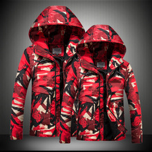 b Jacket Men Winter Camouflage thermal thick parka Coat man Military Hooded Jacket outwear Couple cotton coat plus size S-8XL