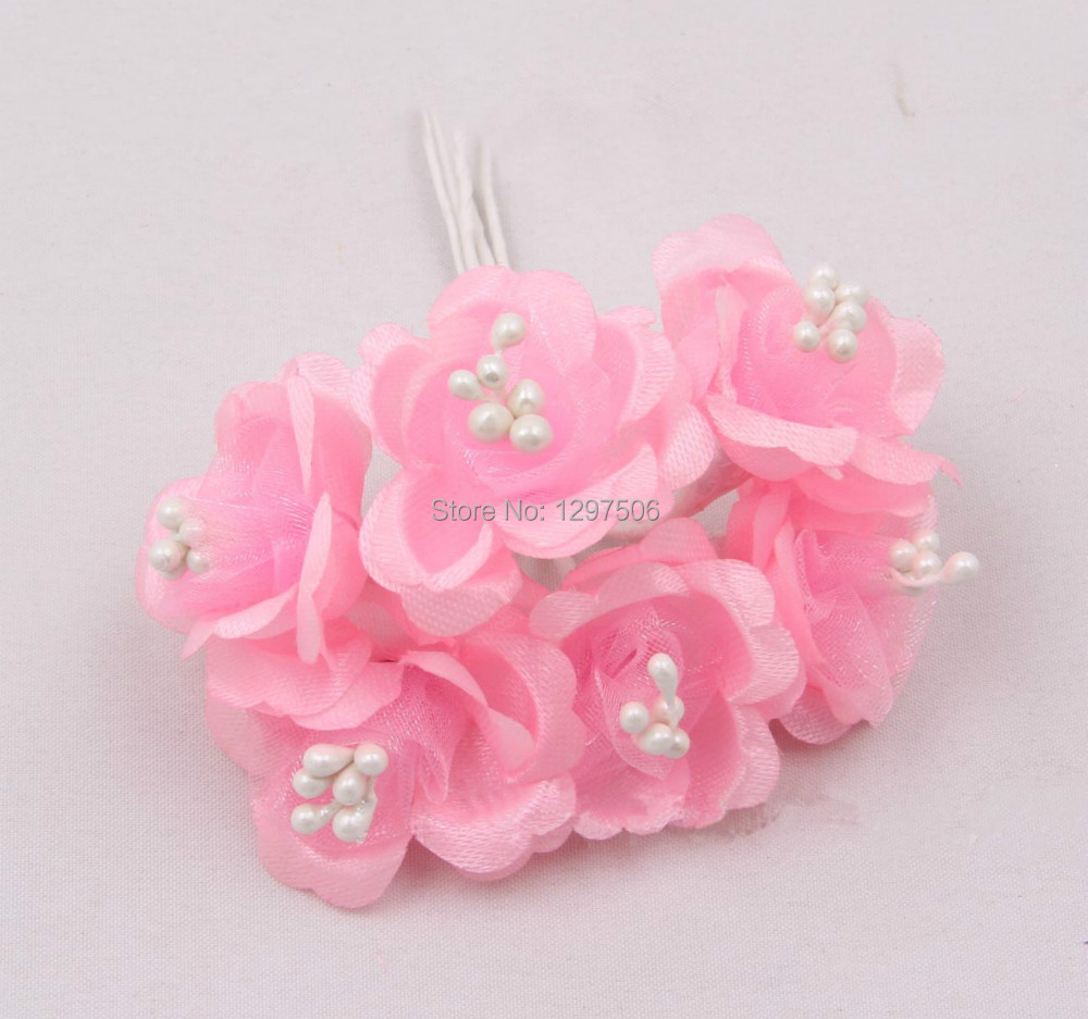 2.5CM fabric artificial small roses with stamen,diy silk floral bouquet arrangement,flower garland ,boutonniere,hair accessories